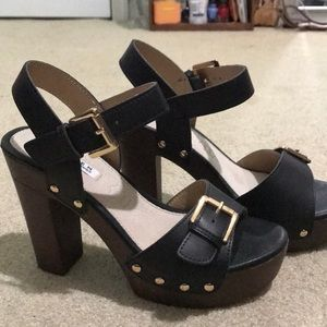 Black and Tan Forever 21 heels